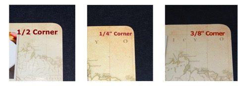 round corner cutter edge samples