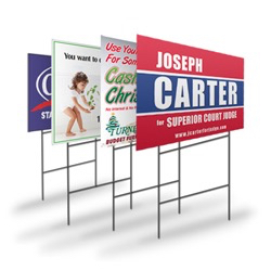 Corex custom color yard sign