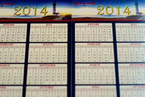 picture of uv coated printed calendar