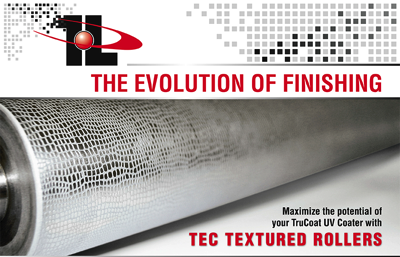 Tec Lighting Textured Rollers for TruCoat UV coating machine